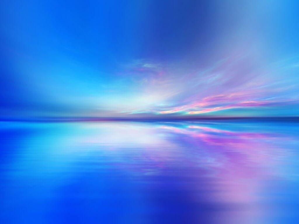 Wasser und Himmel treffen sich