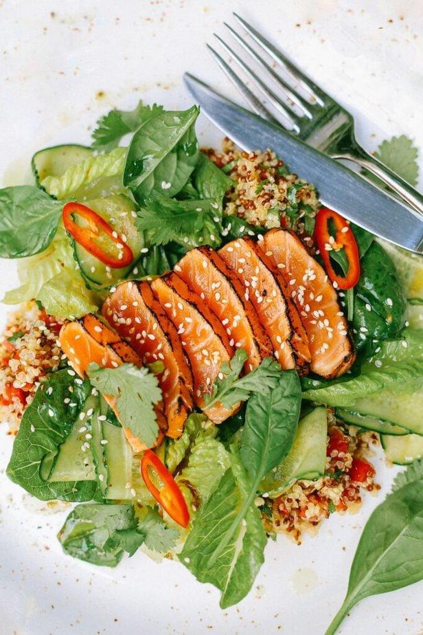 Gesunde Lebensmittel wie Fisch