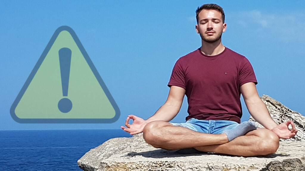 header niemals meditieren - Meditation