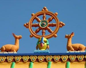Das Dharmarad - der achtfache Weg Buddhas.